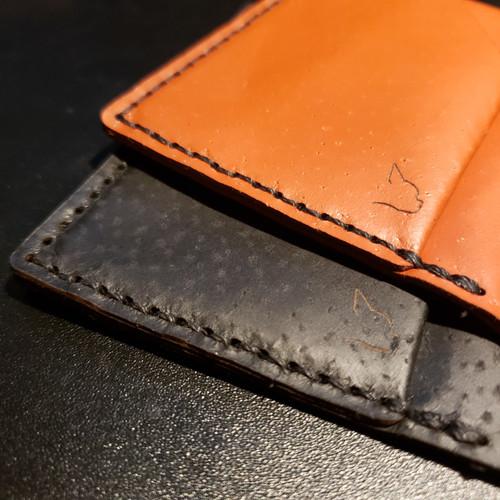 Handmade Men's 4-Pocket bifold wallet by Sidekick, Brown (Made in USA)