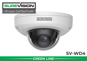 (Built in Microphone) 4MP Vandal Resistant Infrared Dome Camera