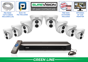 SureVision Complete 8 IP Camera System with Free Upgrade to 16 Channel NVR / 8IPTD4