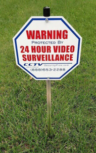 CCTV Sign Kit with Stake