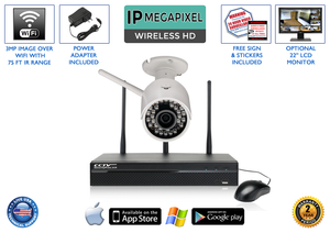 Complete 1 Camera Wireless System with 4 Channel NVR / 1WIRELESS
