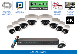 PRO Series Complete 8 (4K) IP Camera System with Free Upgrade to 16 Channel NVR / 8POEAD8
