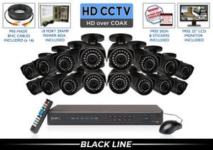 PRO Series Complete 16 HD over Coax Camera System / 16PROCVIBK4-B