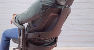 Back angle adjustment with tension control allows you to recline and lock the chair back in 3 different positions, or leave the back unlocked for free movement