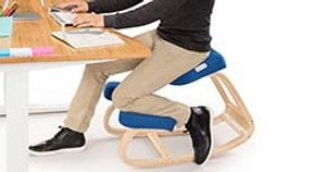 Work in the Perfect Posture for Your Back on the Ergonomic Kneeling Chair by UPLIFT Desk