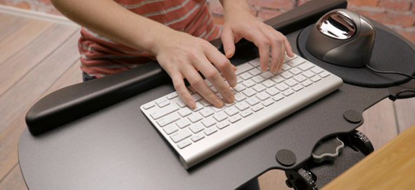 An ergonomic consultation may determine your office needs an ergonomic mouse and ergonomic keyboard for employees