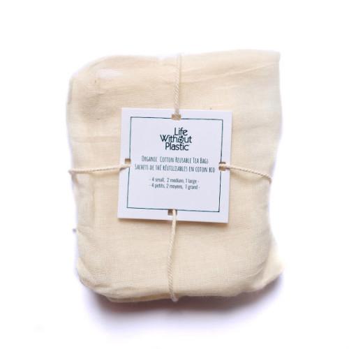 有机棉可重复使用茶包