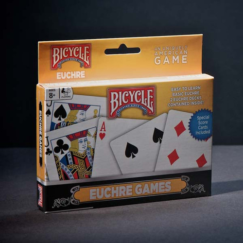 自行车的图像 Euchre 2-deck set packaging