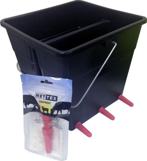 Nettex Lamb Milk Feeding Bucket 6 teats