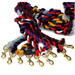 Rhinegold Twisted Cotton Two Colour Lead Rope with Brass Trigger Clip