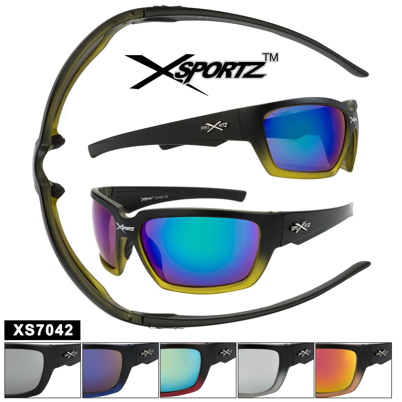 Men/'s Sports Sunglasses Xsportz XS12 Black Frame Mirror lens 100/% UV Protection