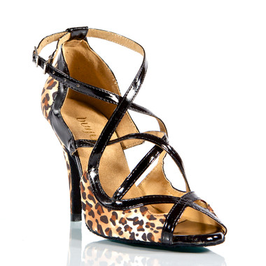Arlette - Strappy Open Toe Stiletto Dance Shoe - 4 inch Heels