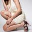 Alejate - Black Floral Satin Stiletto Dance Shoe, 3.5 inch Heels