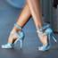 Javana - Open Toe Double Ankle Strap Stiletto - 4 inch Heels