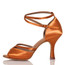 Linked - Nude Cross strap Dance Shoe - 3.5 inch Flared Heels