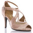 Brittanee - Satin Crystal Open Toe Heels - Custom Made To Order - B1548