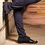 Hector - Men's Black Nubuck and Patent Leather Dance Shoe - Standard Heels