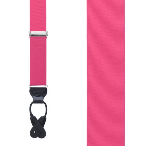 2 Sizes, Array of Beautiful Colors Grosgrain Classic Colors Button Suspenders