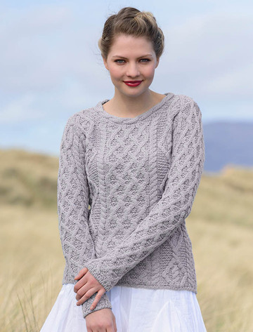 Lambay Aran Sweater for 女装 - Silver