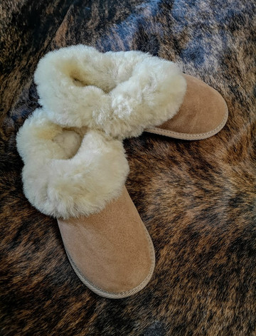女装's Open Irish Sheepskin Slippers