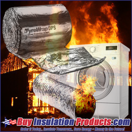 Laundry dryer vents are one of the largest causes of residential home fires.   The clogged dryer vent is lined with flammable fibers and if not properly insulated with Unifrax Fyrewrap DPS, the fire can easily spread through the thin metal/plastic duct.