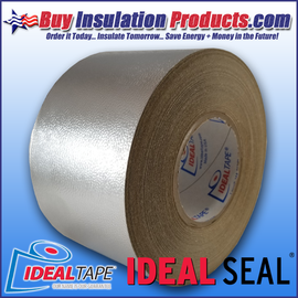 """Ideal Seal 777 Aluminum Embossed Cladding 4"""" Wide Tape Rolls for sealing joints, seams, and covering pin heads/washers"""