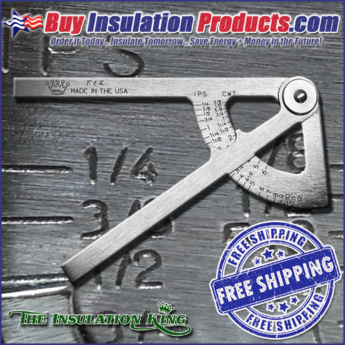 A Pipe Caliper is an easy to use tool that measures the size of the pipe and provides the actual Iron Pipe Size or Copper Tube Size.