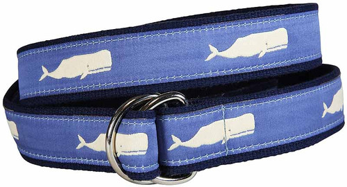 Moby Whale (blue) D-ring Belt