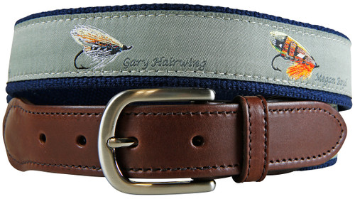 Megan Boyd Flies Leather Tab Belt