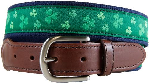 Shamrock Leather Tab Belt