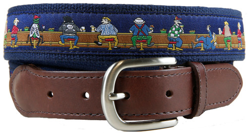 Bar Flies leather tab belt