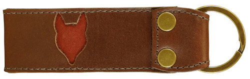 Belted Cow Acadia Leather Fox Key Fob