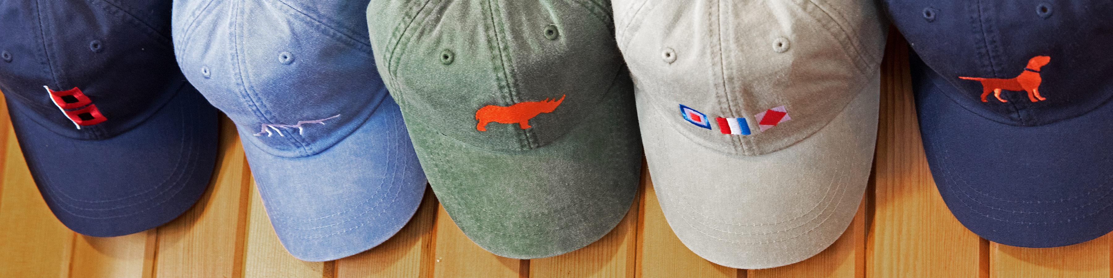 Cotton Hats on Rack - Rhino, Flags,