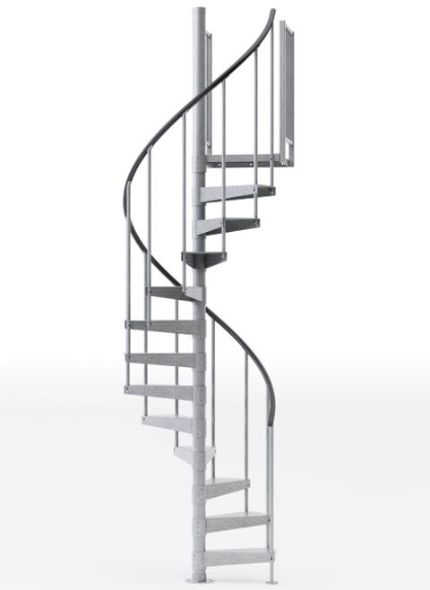 weatherproof 42 inch diameter spiral staircase