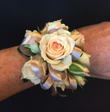 Blush pink spray rose corsage - call for availability