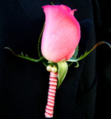 Pink Rose Buttonhole Gold Coast - Jacob