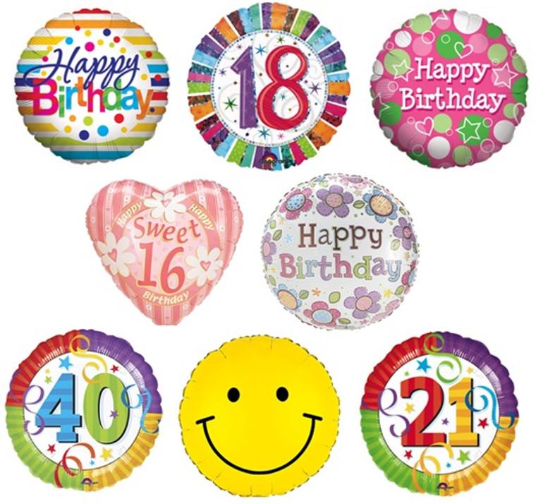Birthday Helium Balloons