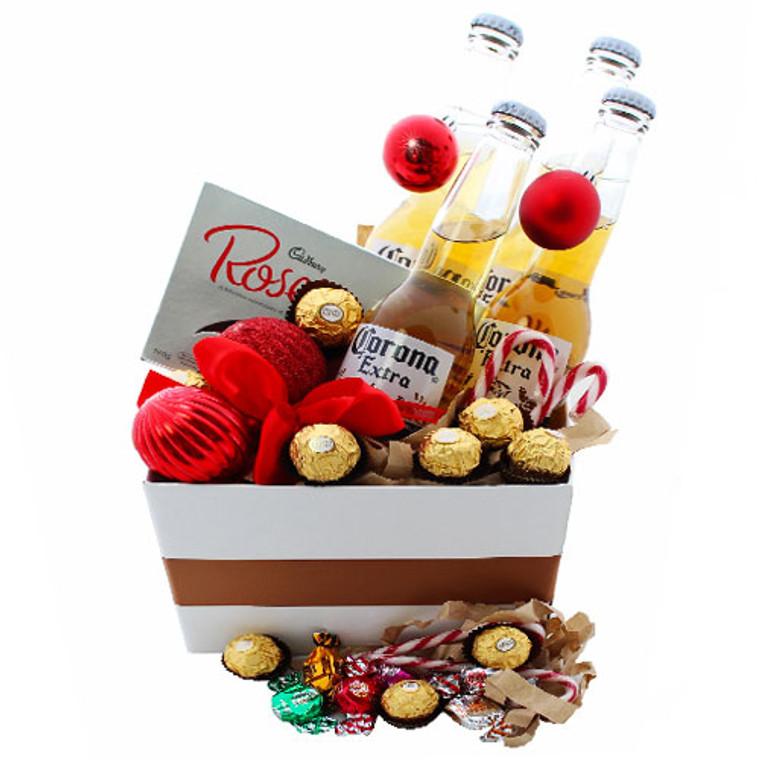 Ashley Christmas Hamper - Coronas, Chocolates and Candy Canes