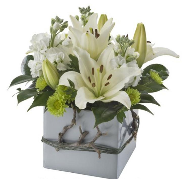 Small mixed box arrangement - Lina - Botanique Flowers Gold Coast