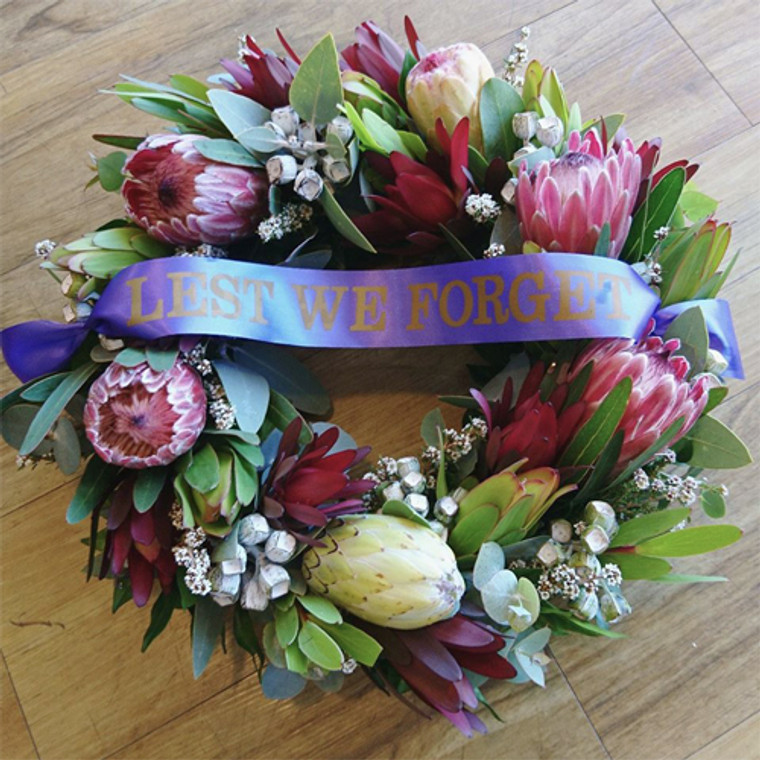 Native Flower ANZAC Wreath - Botanique Flowers and Gifts