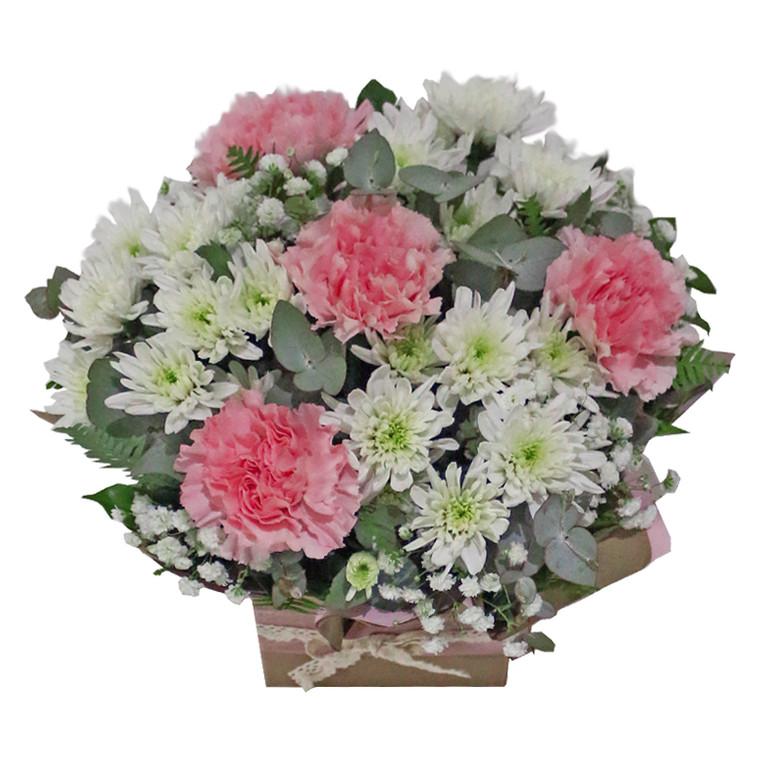 Pastel box arrangement - Botanique Flowers Gold Coast