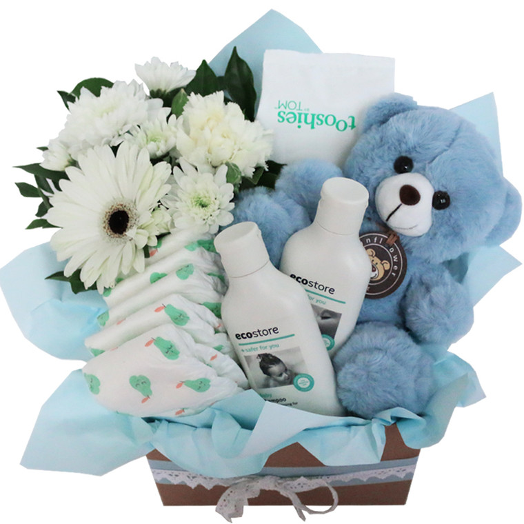 Mother Nature Blue Eco Friendly natural baby hamper
