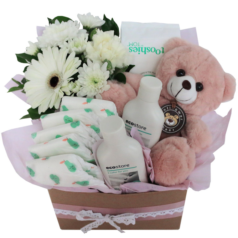 Mother Nature Pink eco friendly natural baby hamper