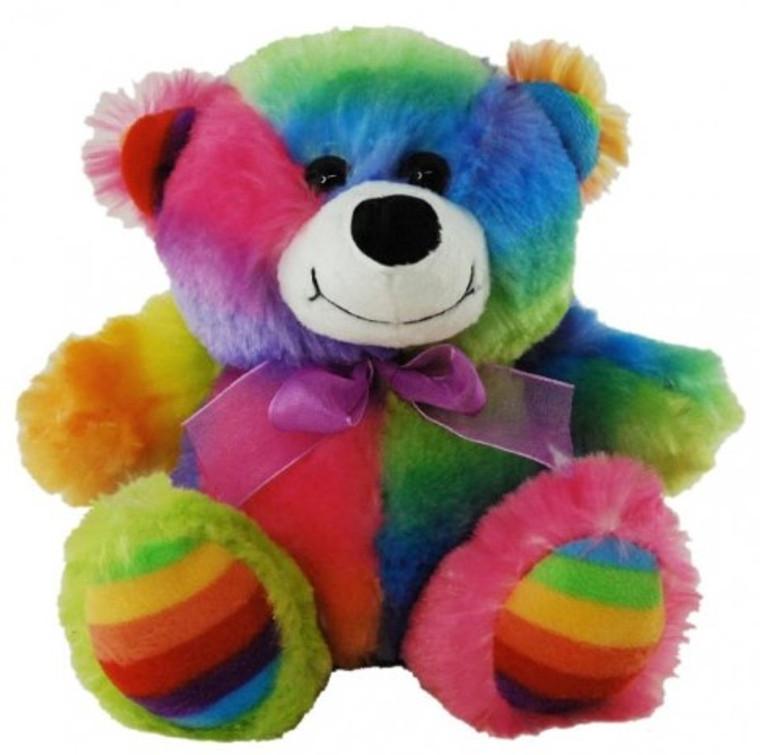 Rainbow Bear 18cm
