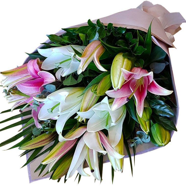 Oriental lily bunch