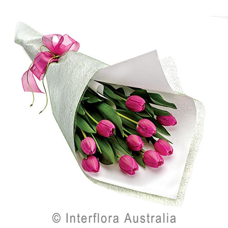 Pink Tulip flower wrap - Gold Coast Botanique