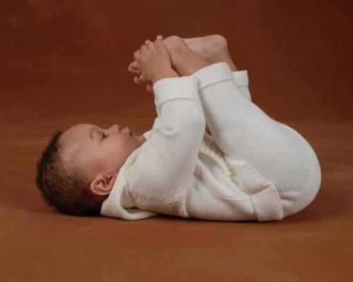 Beba Bean: Knit Hoodie & Pant Set in Ivory