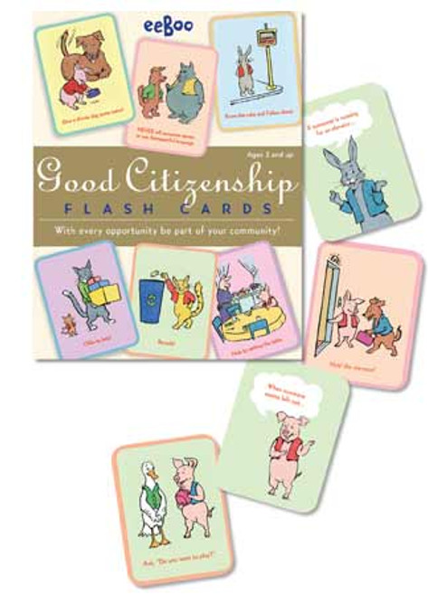 eeBoo - Good Citizenship Flash Cards