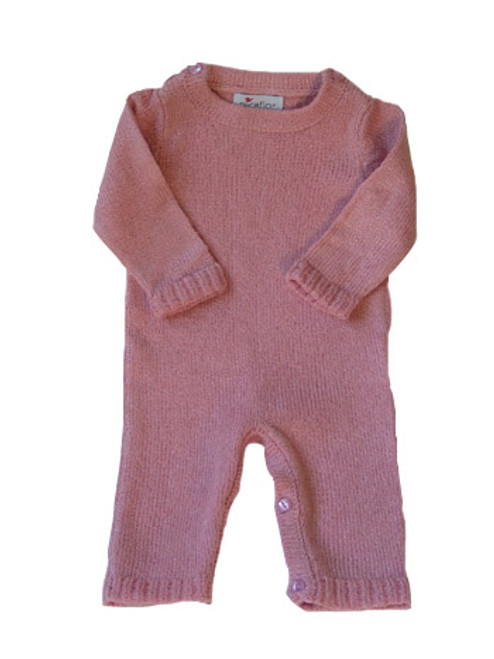 Picaflor:  Knitted Pink Romper