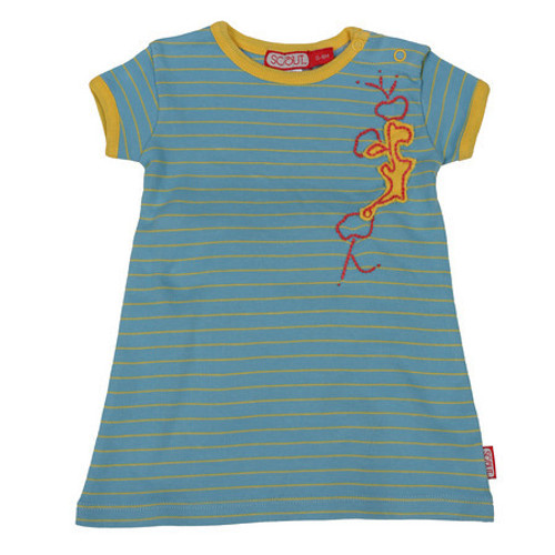 Scout:  Adventure Dress in Ocean with Sun Stripe